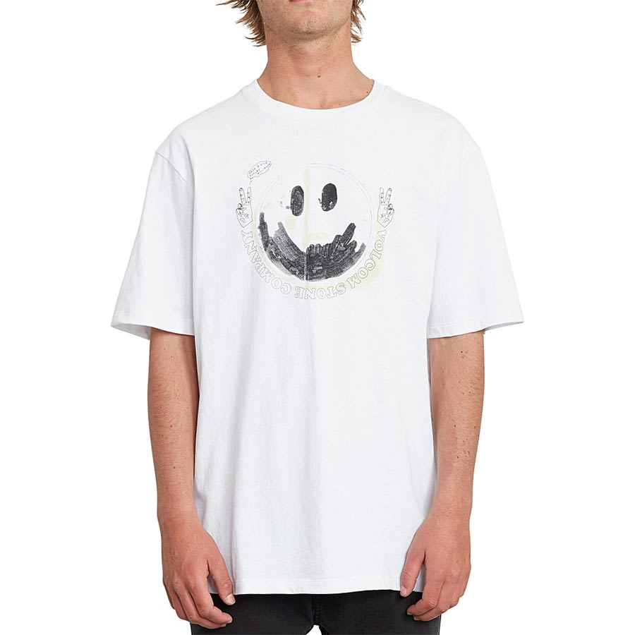 T-shirt VOLCOM Homme Fake Smile White